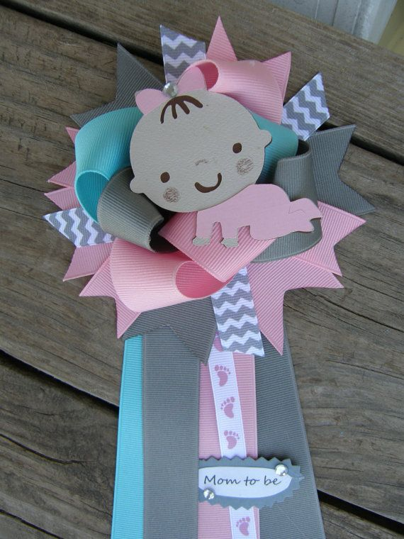 baby girl baby shower corsage baby shower pin on etsy