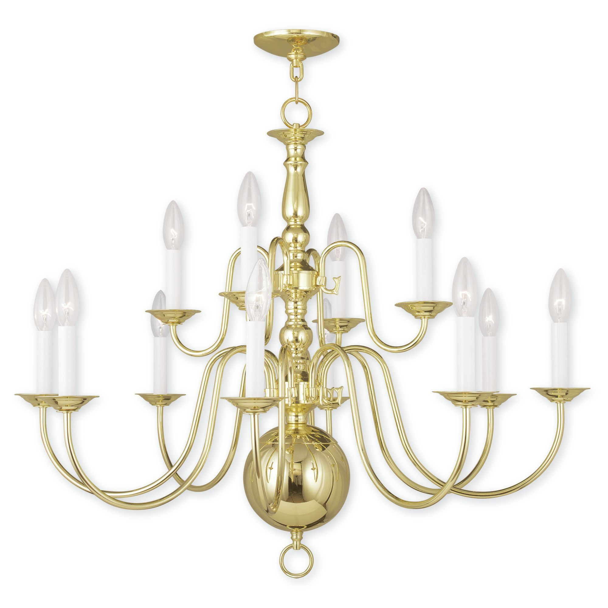 Williamsburgh 12-Light Candle-Style Chandelier