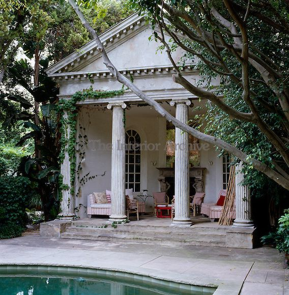 Richard shapiro the poolside pavilion is modelled on the for Palladian home designs