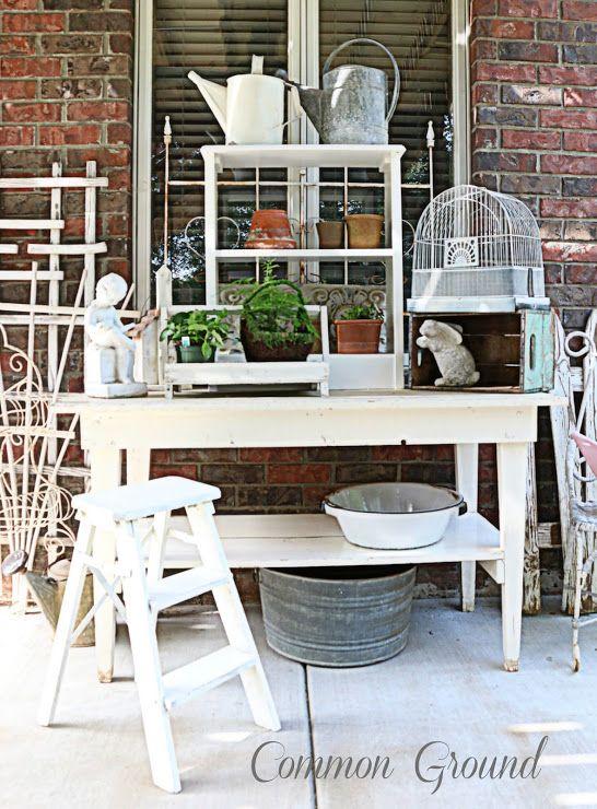 Common Ground Potting Bench Progress Potting Benches Pinterest