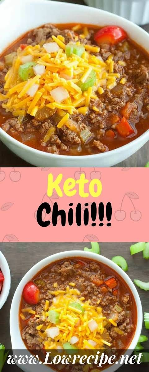 Keto Chili With Ground Beef Onion Garlic Diced Tomatoes Tomato Paste Green Chiles Worcestershire Sau Keto Recipes Easy Keto Diet Recipes Low Carb Keto