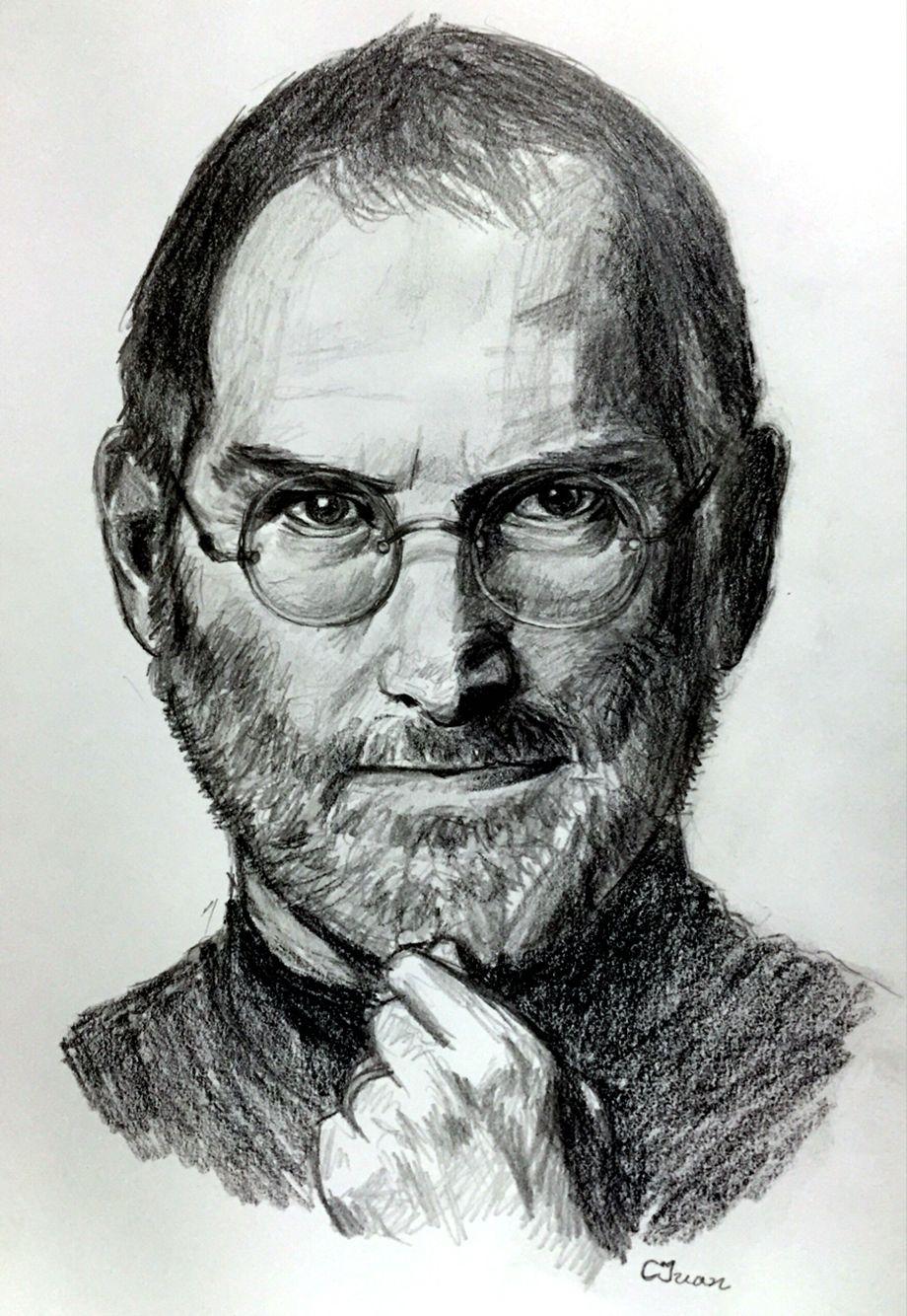 Steve Jobs Sketch Sketches Of People Sketches Steve