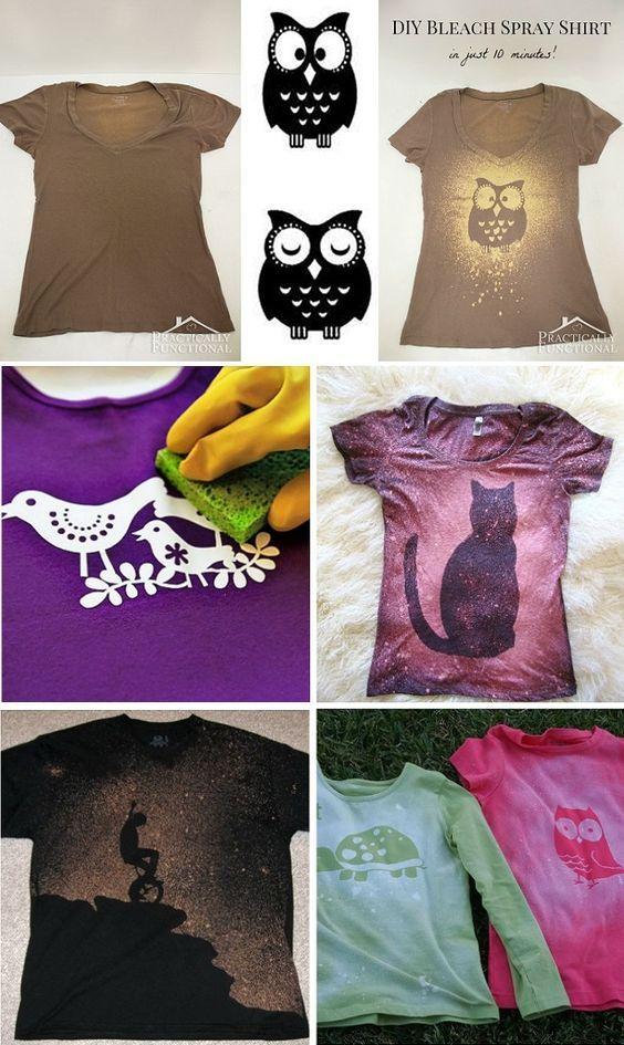 DIY – Make Your Own Trendy Bleached T-shirt | Pinterest ...
