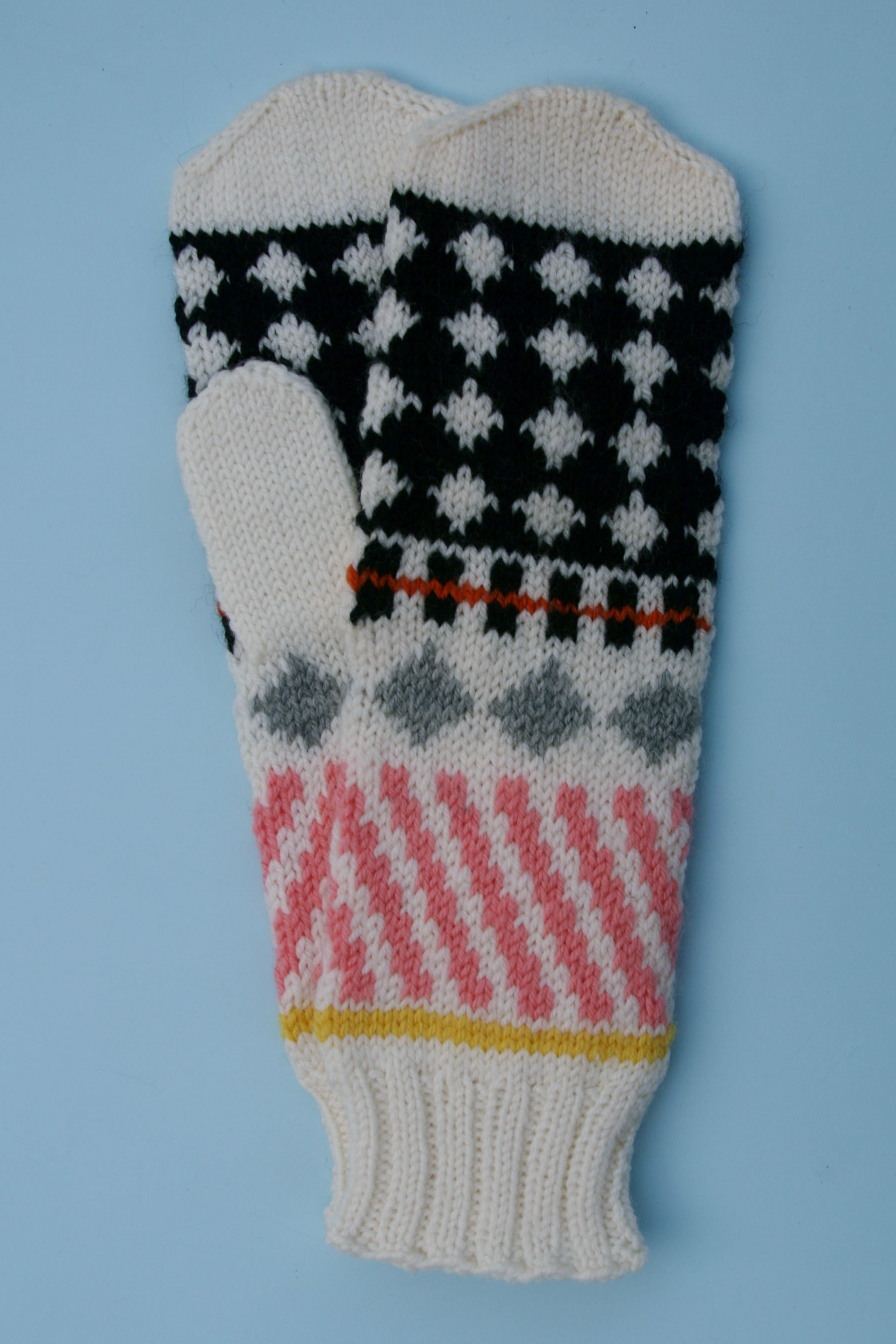Mittens designed by margretmaria. Inspired by an outfit from Sonia Rykiels s/s 2012 collection. https://www.margretmaria.com