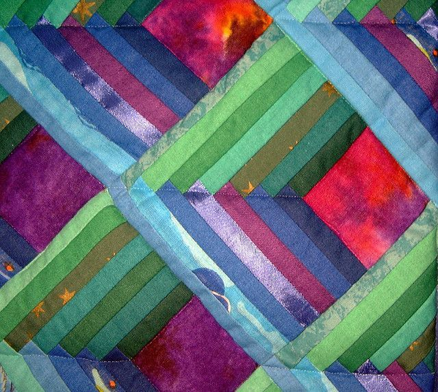 Image result for log cabin quilt patterns that look 3-D | Quilts