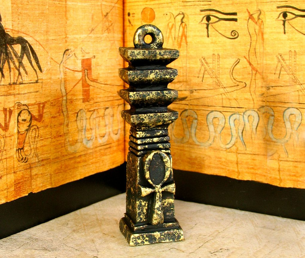 The Djed Pillar With Ankh Relief Ancient Egyptian Symbols Of