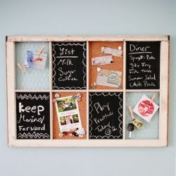 Check out this tutorial on how to make an organizer from an old window.