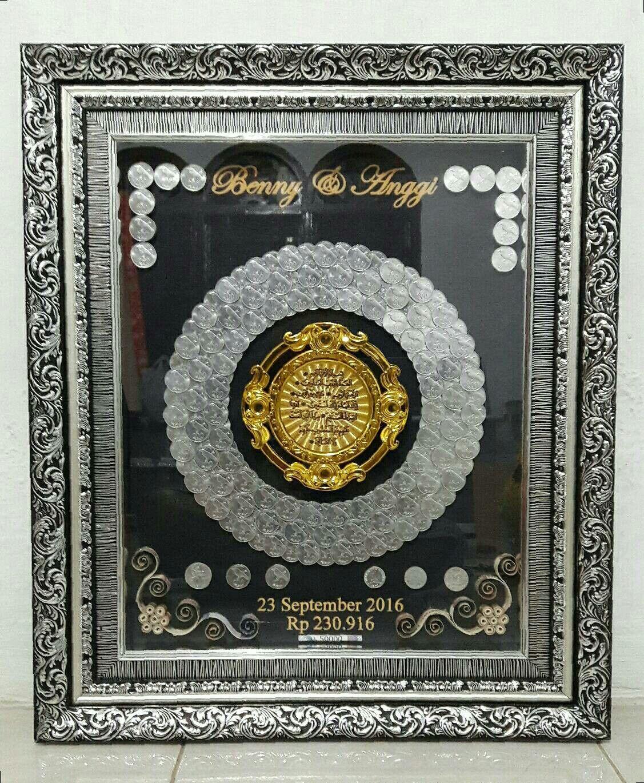 Mahar Lingkaran Logam Kaligrafi 40x50cm Ide Perkawinan Ide Hiasan