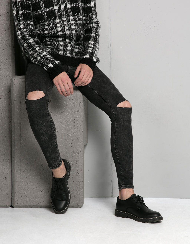 Basic Super Skinny Stonewashed Jeans Jeans Bershka United Kingdom Jeans Super Ajustados Skinny Bershka