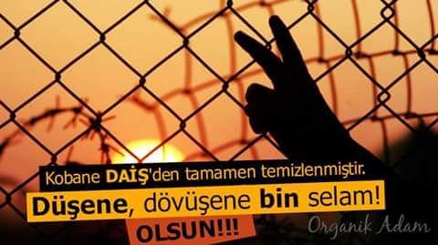 Kobane artık özgür! Bu destanı yazan herkese binlerce teşekkürler. #Kobane #KobaneAzad  #berxwedanakobane  #YPG #YPJ