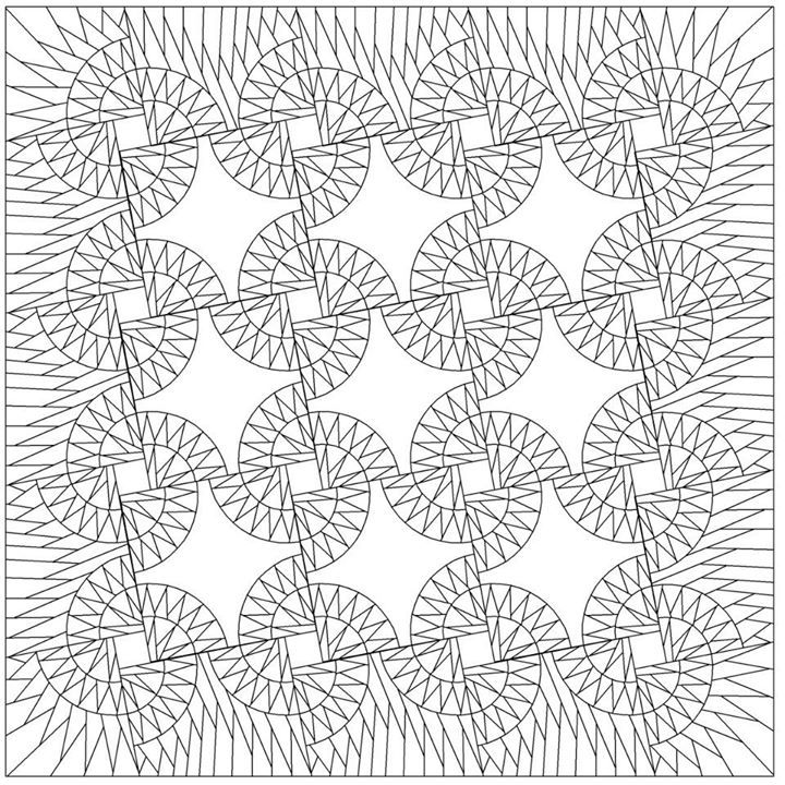 Line Drawing Of Quilt : Sand devils line drawing quiltworx made by