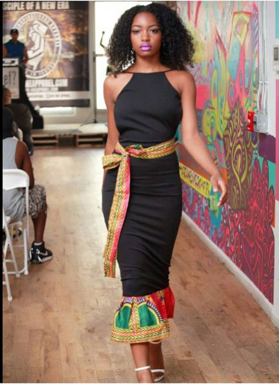 African/ethinic  dashiki women fitting dress door AFROCOLLECTION2015