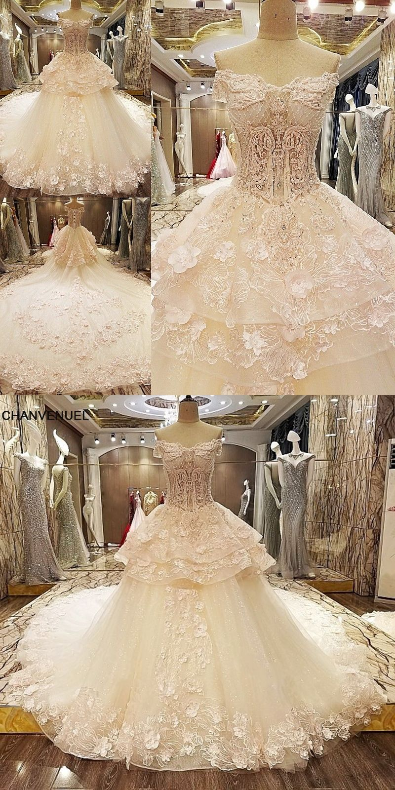 Ls queen wedding dress d flowers lace sweetheart ball gown