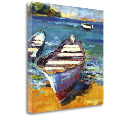 Tangletown Fine Art 'Boat' by Page Pearson Railsback Painting Print on Wrapped Canvas