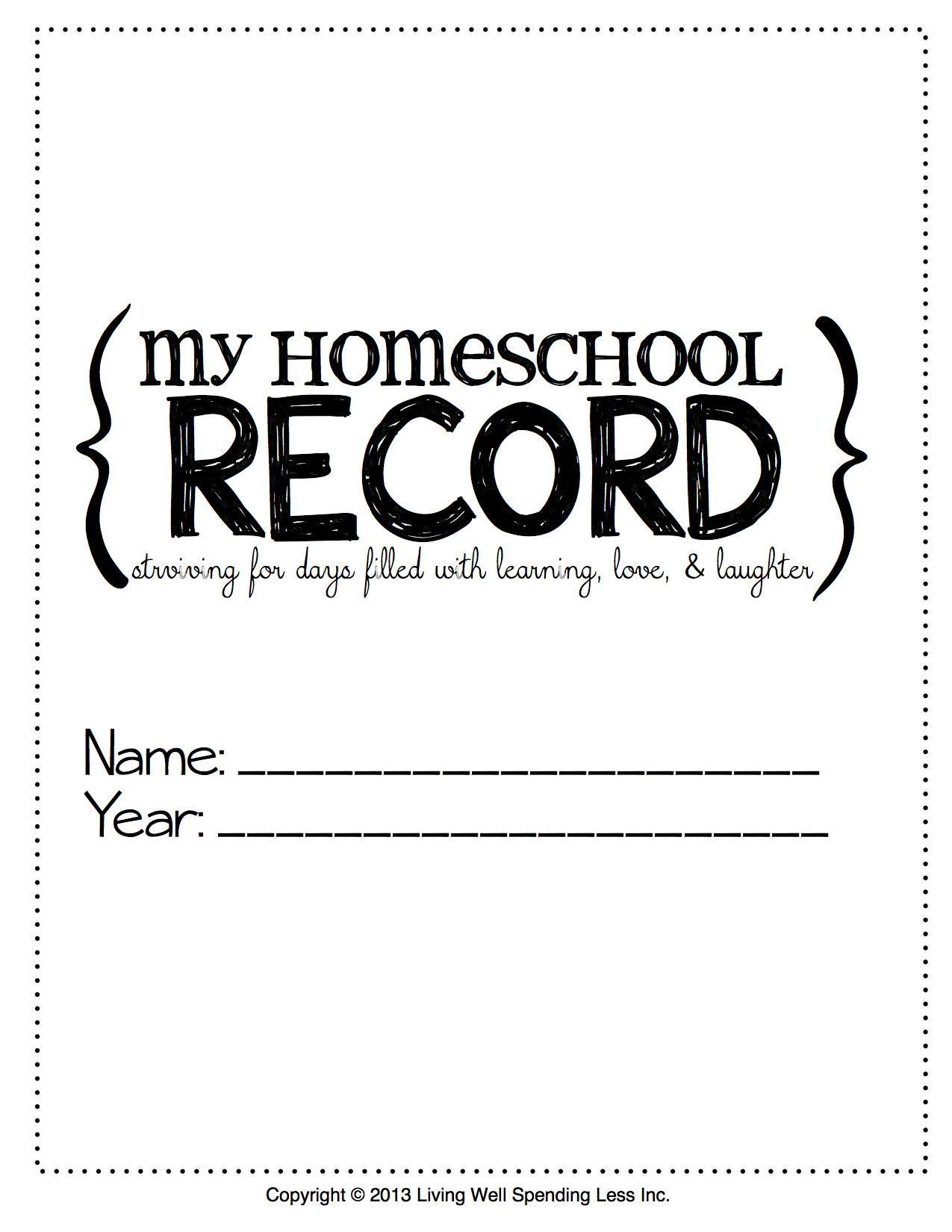 Free Printable Homeschool Student Binder Cover