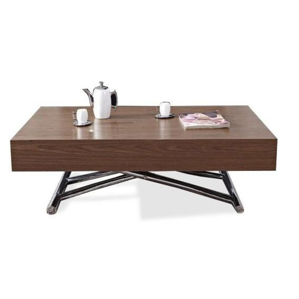 Table Basse Relevable Cube Noyer Extensible 10 Couverts Table Basse Relevable Table Basse Et Table Basse Relevable Extensible