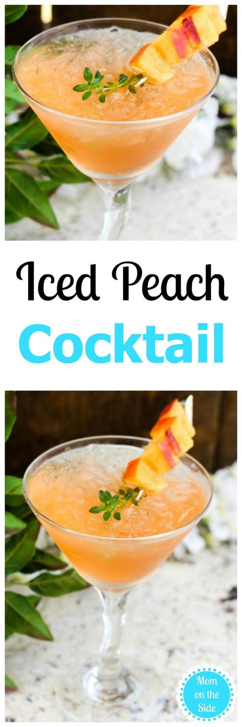 I'm ready for Thirsty Thursday and a delicious cocktail to remind me that I've got this. An Iced Peach Cocktail will do the trick and tastes like summer!