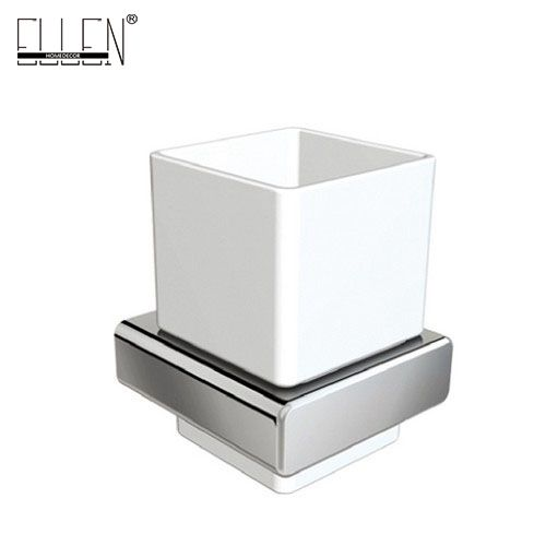 Square Toothbrush Holder Bathroom Accessories Tumble Tooth Brush In Br Chrome With Ceramics Cup