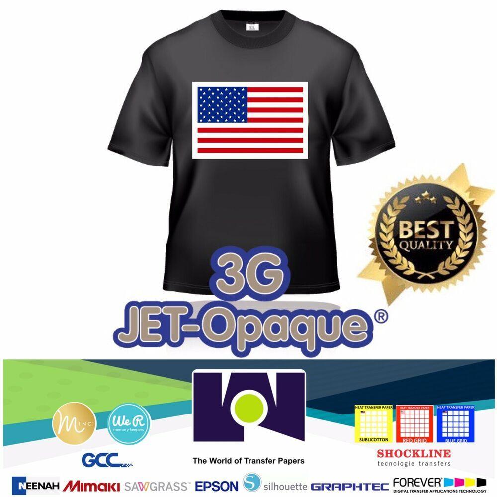 3G Jet Opaque Heat Transfer Paper 8.5 x 11-5 Sheets