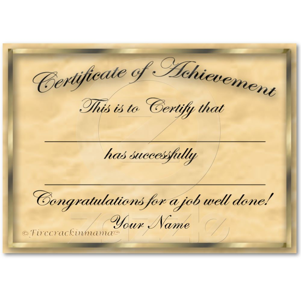 Certificate of achievement chubby card certificate card certificate of achievement chubby card yadclub Choice Image