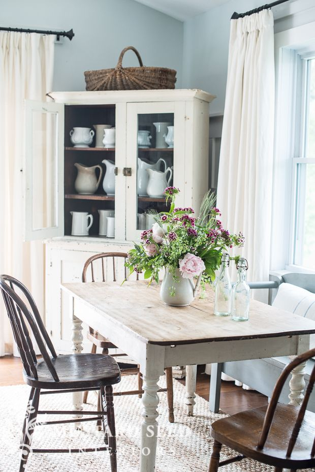 Dining Room Makeover Mesmerizing Miss Mustard Seed  Peonies And Family Room Makeover  Home Sweet Design Inspiration