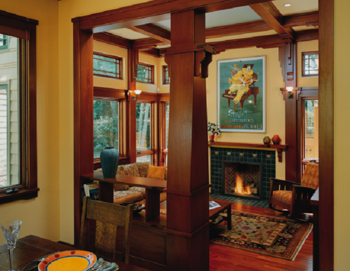 Best 25 craftsman style interiors ideas on pinterest - Arts and crafts bungalow interiors ...