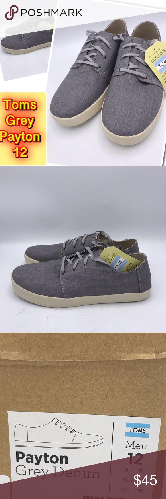 6e7677b4091 Toms Men s Grey Payton Denim casual Fashion 12 Toms Men s Grey Payton Denim  casual Fashion Sneakers