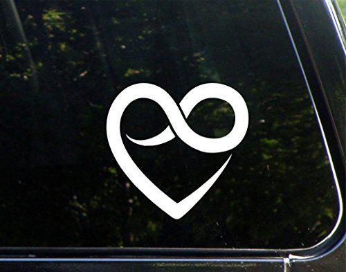 Heart With Infinity Symbol 6 X 5 12 Vinyl Die Cut Decal
