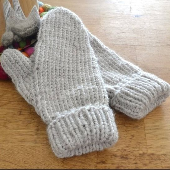 Easy mittens knitting pattern PDF - cozy knit glove ...