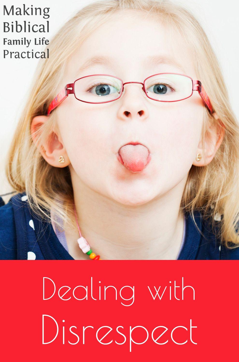 Dealing with disrespect mbflp 201 teaching kids