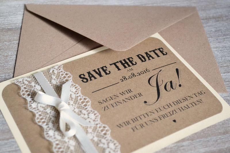 Save The Date Karten Vintage.Einladungskarten Save The Date Hochzeit Vintage Creme Einladung