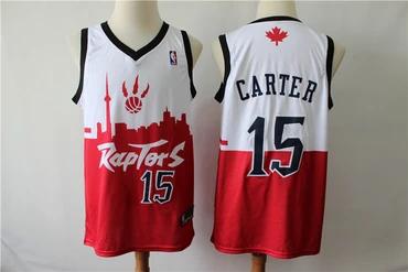 New Season Men/'s Toronto Raptors 15# Vince Carter basketball jersey  red