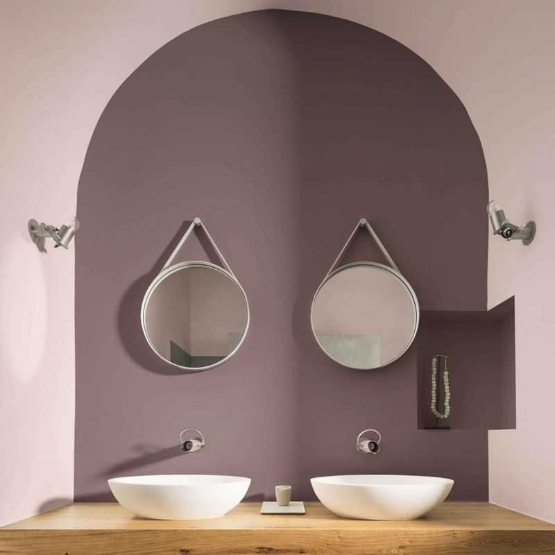 salle de bain brun cachemire couleur de l\u0027année 2018 Dulux Valentine