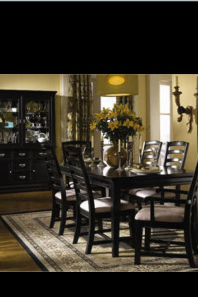 black wood dining room set dining room pinterest