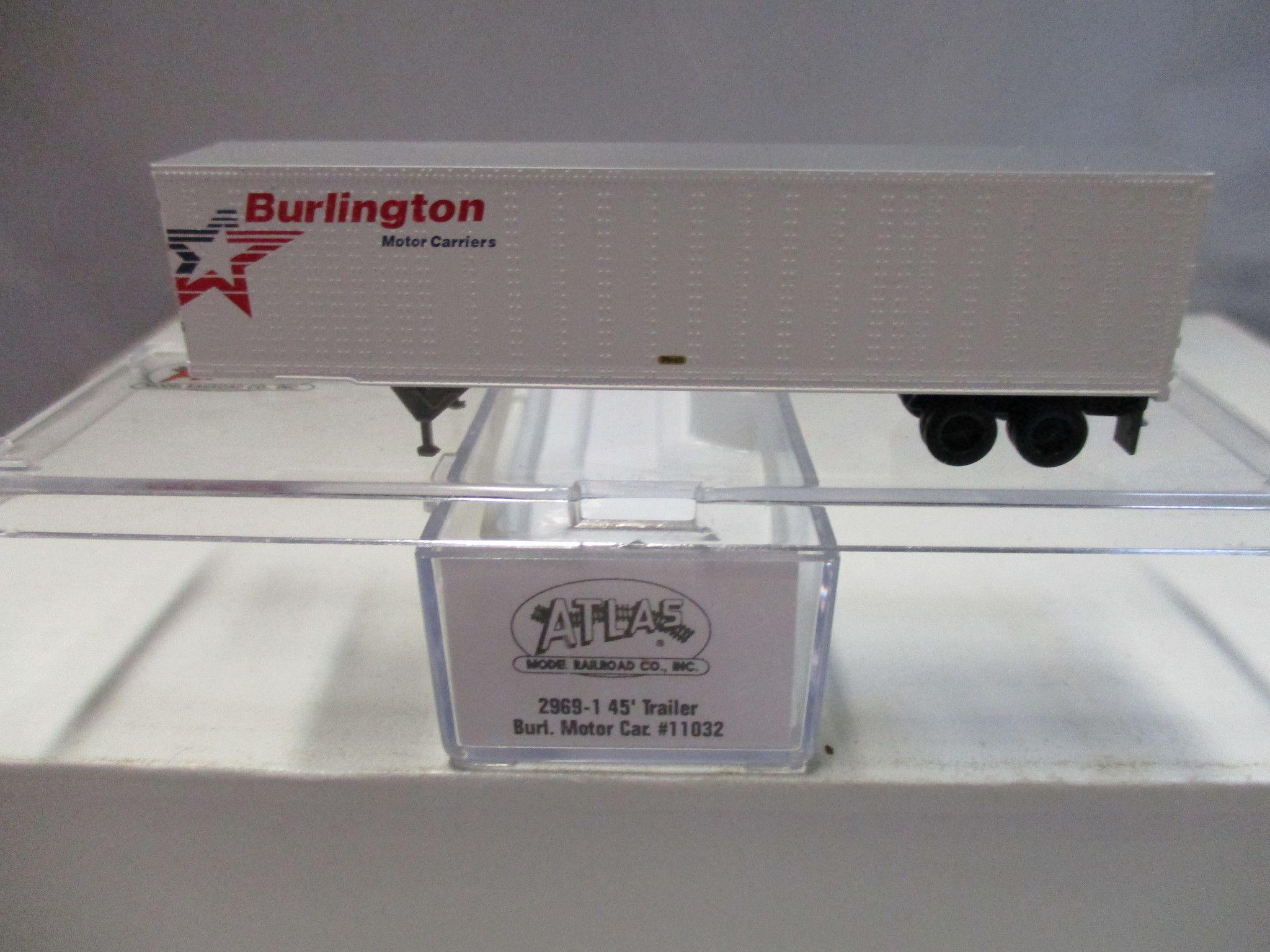 Atlas 45' Trailer N Scale # 2969 Burlington Motor Carriers #11032