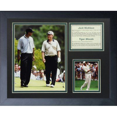 Legends Never Die Jack Nicklaus and Tiger Woods Framed Memorabilia
