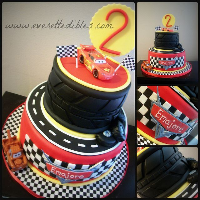 Cars Cake 5 2014 Custom Cakes By Everett Edibles Pinterest
