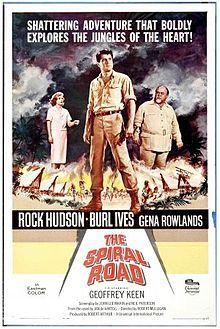 """""""The Spiral Road"""" (1962) stars Rock Hudson, Gena Rowlands, Burl Ives"""
