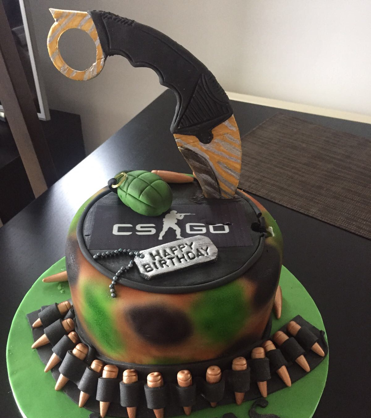 My Csgo Themed Birthday Cake Games Globaloffensive Csgo