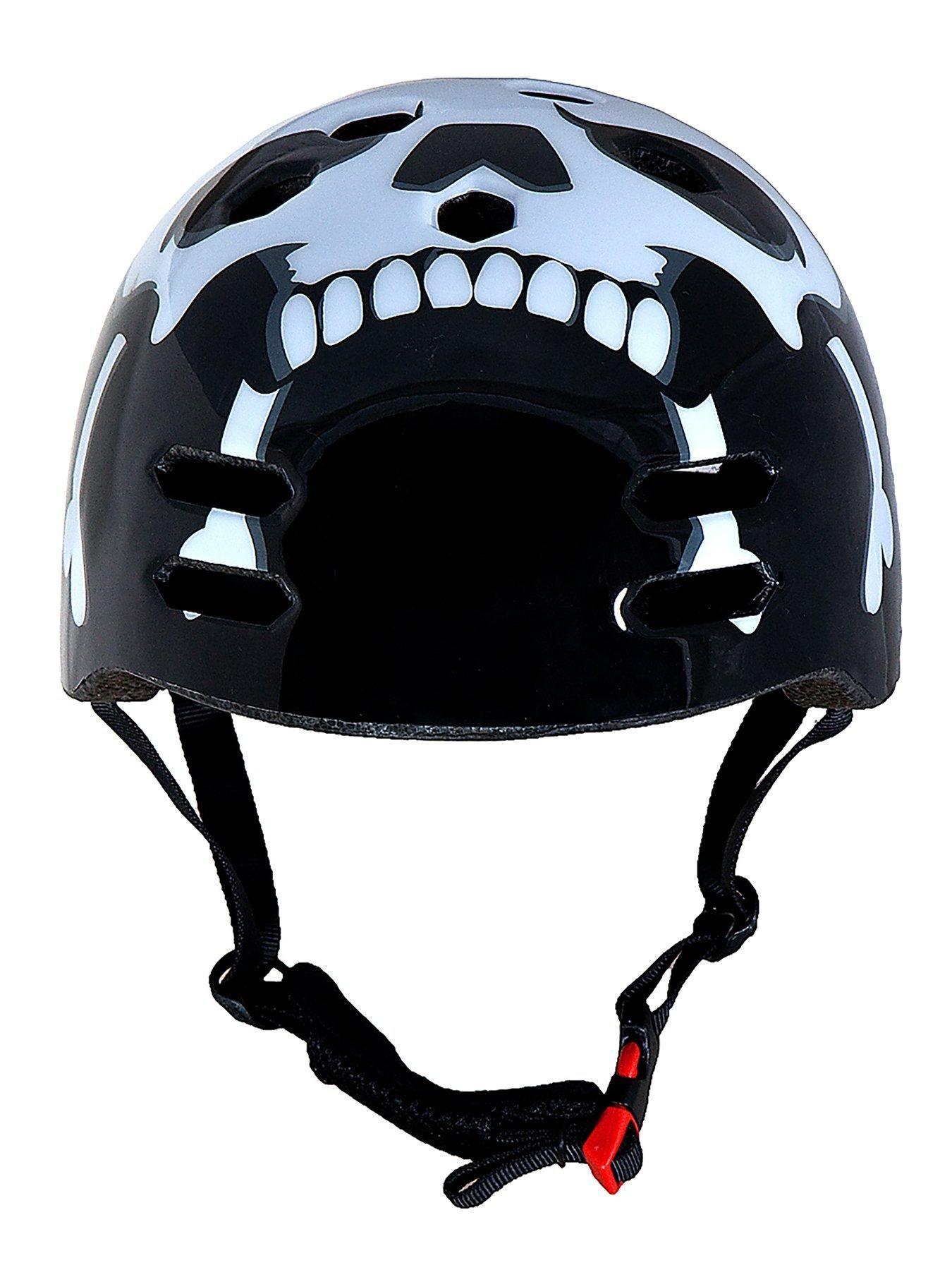 Sport Direct Skull and Cross Bones BMX Helmet 5558 cms
