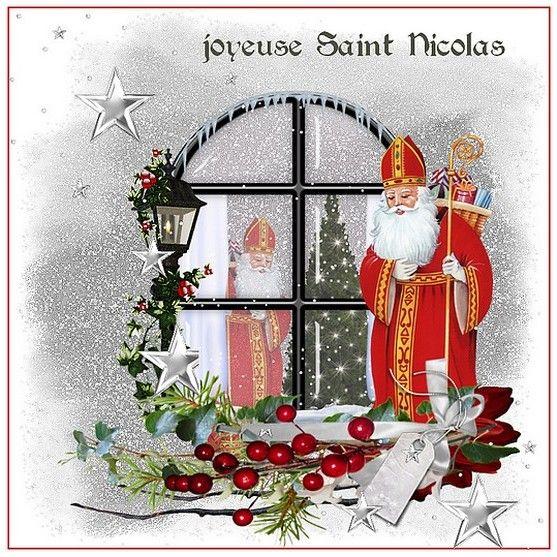 Carte Saint Nicolas A Imprimer Saint Nicolas Noel Vintage Et