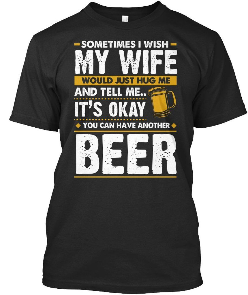 A Man A Beer A Garage Funny Humor Trendy T-Shirt