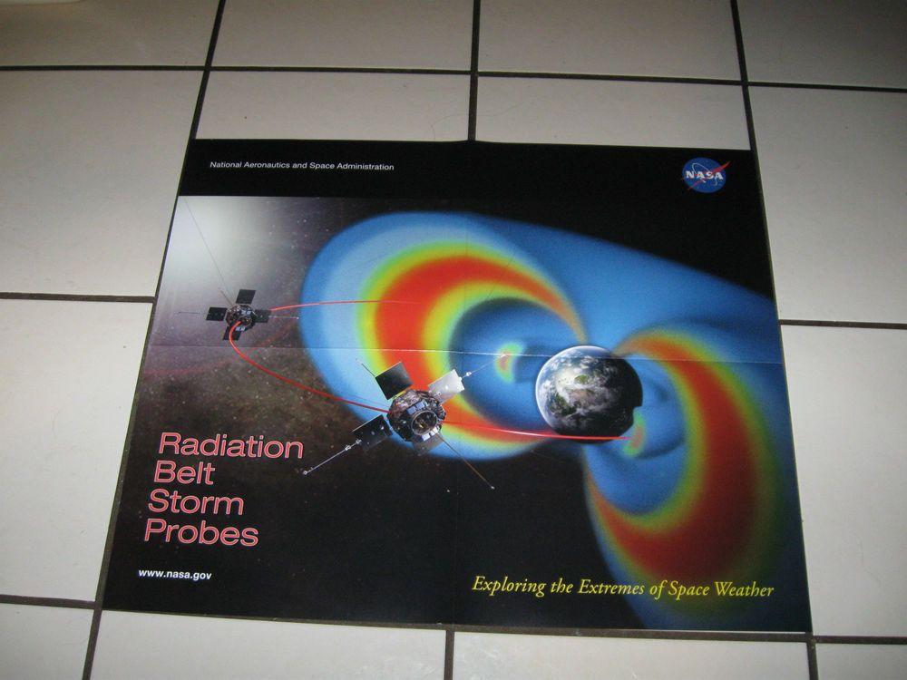 NASA RADIATION BELT STORM PROBES LAUNCH RBSP POSTER