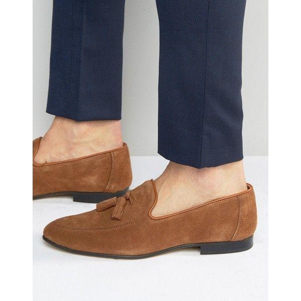 Walk London Tassel Leather Loafers In Brown - Brown WALK LONDON DpqtfWN