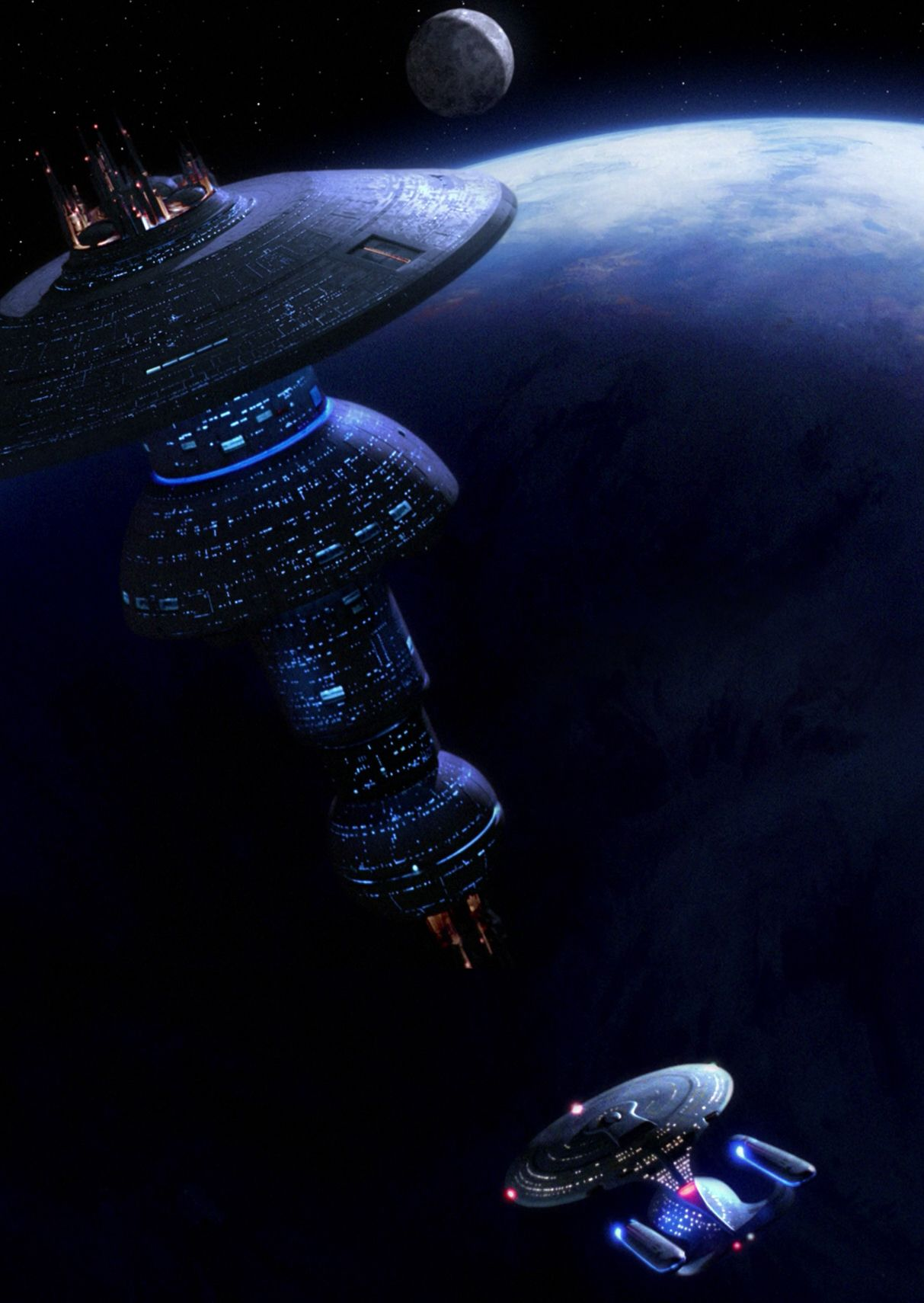Uss enterprise ncc 1701 d galaxy class saucer separation r flickr - Design A Spaceship Uss Enterprise Approaching Starbase