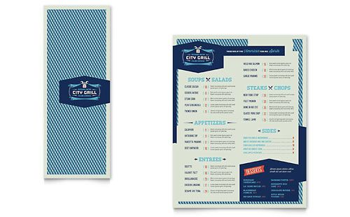 Fine Dining Restaurant Take-out Brochure Template Design menu - microsoft office menu templates