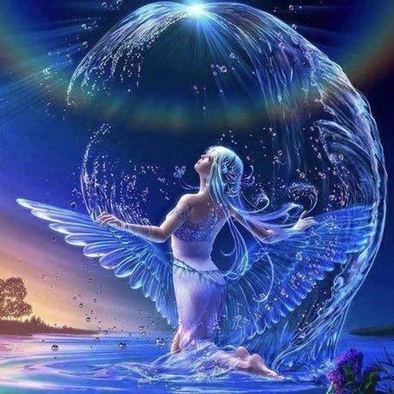5D DIY Diamond Painting Water Fairy Mosaic Cross Stitch Full