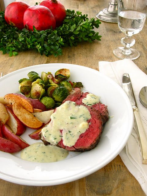 Holiday Dinner Party Menu Beef Tenderloin Truffled Potatoes Brussels Sprouts Dinner Party Menu Dinner Menu Beef Tenderloin Recipes