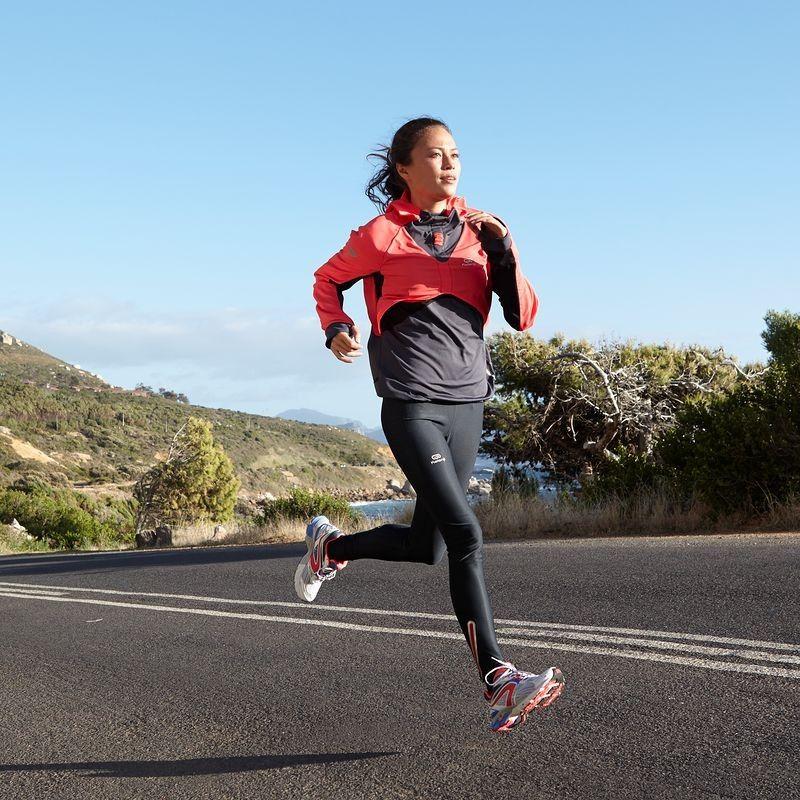 RUNNING_textil Running, Atletismo - Sudadera cortavientos de running de mujer Kalenji Evolutiv ROsa KALENJI - Ropa de Running