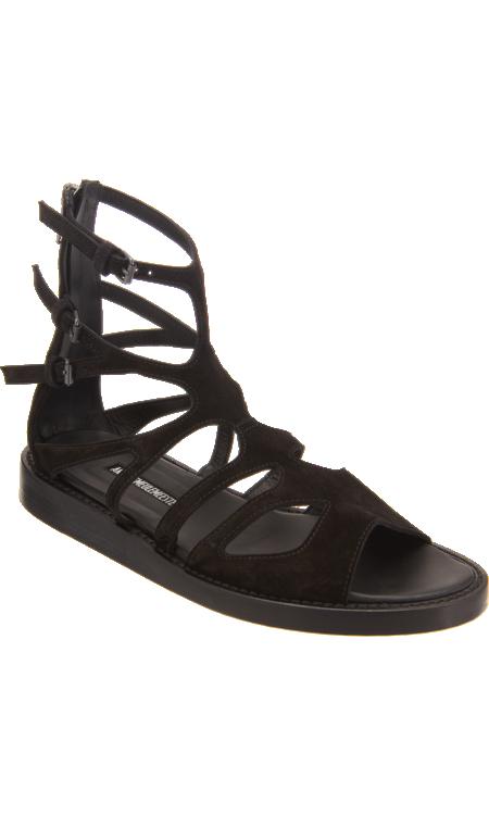 ann demeulemeester cutout sandal
